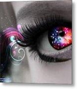 There's Magick In The Eyes Metal Print