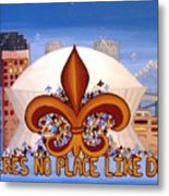 There's No Place Like Dome Metal Print