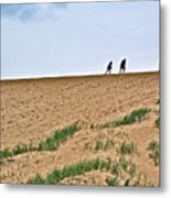 They Are Not At The Top Of This Dune Climb In Sleeping Bear Dunes National Lakeshore-michigan Metal Print
