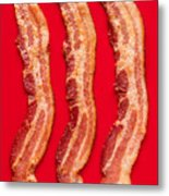 Thick Cut Bacon Served Up Metal Print