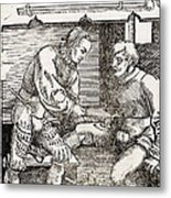 Thigh Cauterization, 16th Century Metal Print