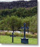 Thingvellir Church Cemetery, Iceland Metal Print