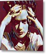 Thinking Frida Metal Print