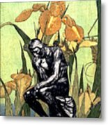 Thinking In The Garden Metal Print