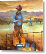 Think'n Out His Day Metal Print