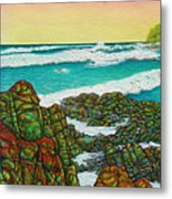 Third Bay Coolum Beach Triptych Metal Print