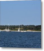 Third Beach Middletown With Boats Metal Print