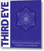 Third Eye Chakra Series Three Metal Print