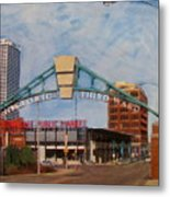 Third Ward Arch Over Public Market Metal Print
