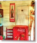 Thirst-quencher Old Coke Machine Metal Print