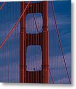 This Is A Close Up Of The Golden Gate Metal Print