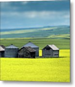This Is Alberta No.15 - Prairie Barns Metal Print