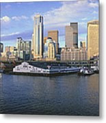 This Is The Skyline And Harbor Metal Print