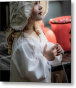 This Little Lady Gives Halloween Candy 5962vg Metal Print