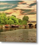 This Morning On The River Metal Print