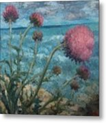 Thistles By The Sea Metal Print