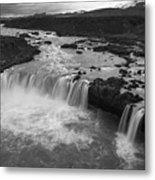Thofafoss Waterfall Iceland 1538 Metal Print