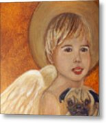 Thomas And Bentley Little Angel Of Friendship Metal Print by The Art With A Heart By Charlotte Phillips