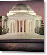 Thomas Jefferson Memorial At Sunset Artwork Metal Print