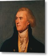 Thomas Jefferson Metal Print by War Is Hell Store
