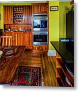 Thomas Kitchen With Old Fashioned Icebox And Refrigerator Metal Print