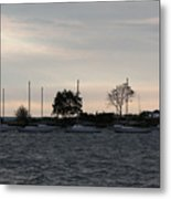 Thomas Point - Waiting To Sail Metal Print