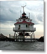 Thomas Point Shoal Lighthouse - Up Close Metal Print
