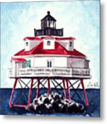 Thomas Point Shoal Lighthouse Annapolis Maryland Chesapeake Bay Light House Metal Print
