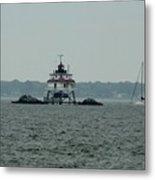 Thomas Point Shoal Lighthouse Metal Print