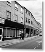 thomas street in the Northern quarter Manchester uk Metal Print