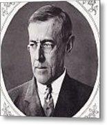 Thomas Woodrow Wilson, 1856 To 1924 Metal Print
