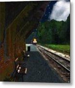 Thomaston Train At Night Metal Print
