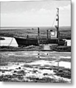 Thornham Harbour, North Norfolk Metal Print