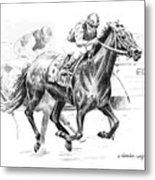 Thoroughbred Best Pal Metal Print