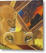 Those Eyes Lion Metal Print