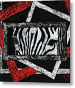 Those Eyes...zebra Metal Print