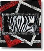 Those Eyes...zebra Metal Print