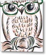 Owl- Those Spectacles  Metal Print