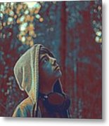 Thoughtful Youth 12 Metal Print