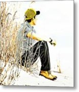 Thoughtful Youth 6 Metal Print