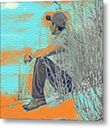 Thoughtful Youth 7 Metal Print