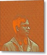 Thoughtful Youth Series 19 Metal Print