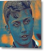 Thoughtful Youth Series 27 Metal Print
