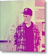 Thoughtful Youth Series 28 Metal Print