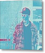 Thoughtful Youth Series 31 Metal Print