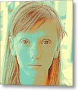 Thoughtful Youth Series 33 Metal Print
