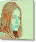 Thoughtful Youth Series 34 Metal Print