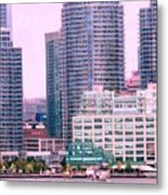 Thousands Of Windows On The Harbor Metal Print