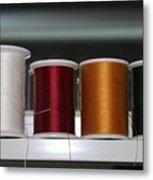 Thread On A Sill Metal Print