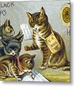 Thread Trade Card, 1880 Metal Print